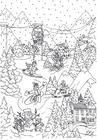 Dibujo para colorear Deportes de invierno
