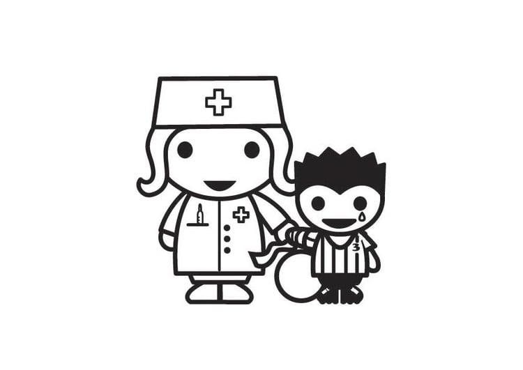 Dibujos De Medicos Para Colorear E Imprimir: Dibujo Para Colorear Derecho A La Asistencia Médica