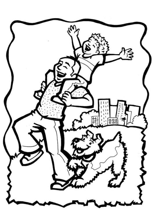 Dibujo para colorear derecho a la asistencia y al amor - Img 28894