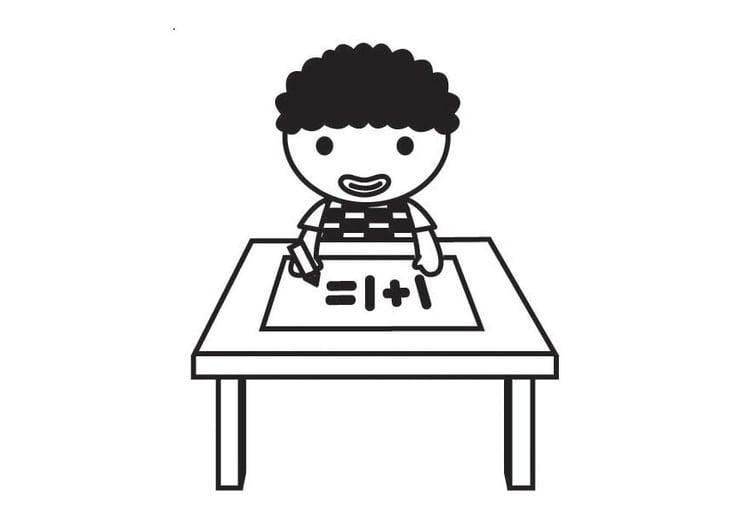 Dibujo para colorear derecho a la educación - Img 23398