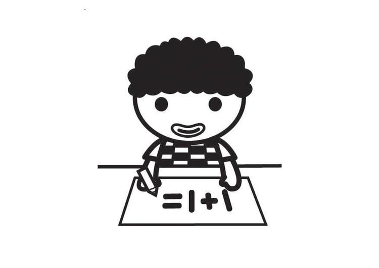 Dibujo para colorear derecho a la educación - Img 23401