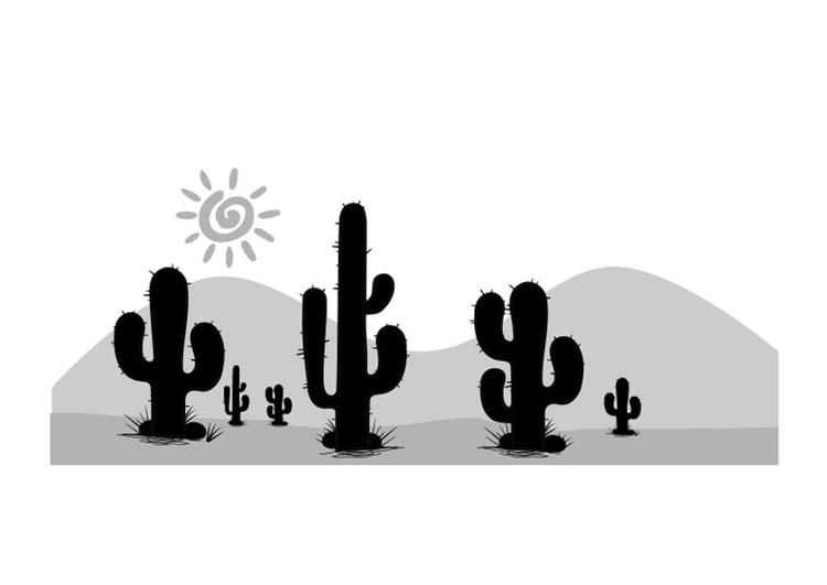 Dibujo para colorear desierto  Img 26196