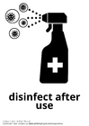 Dibujo para colorear desinfectar después de su uso