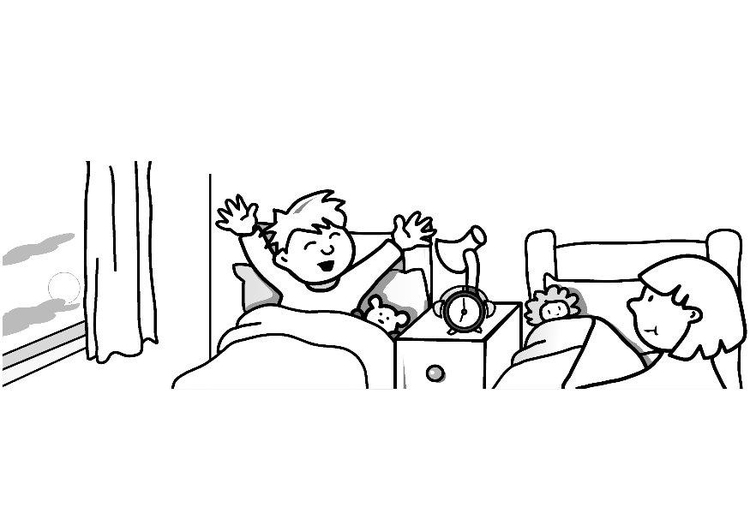 Dibujo Para Colorear Despertar Img 7312
