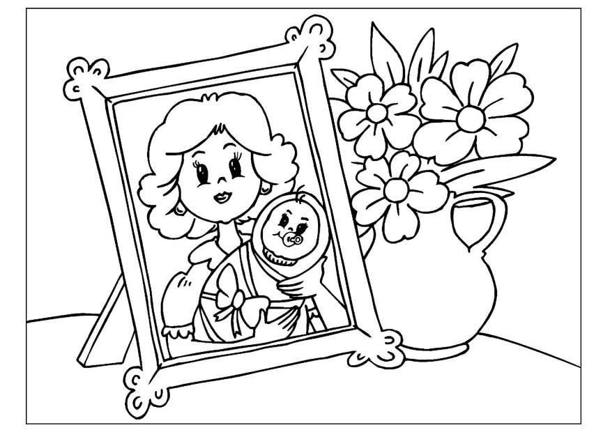 Dibujo Para Colorear Día De La Madre Img 25725