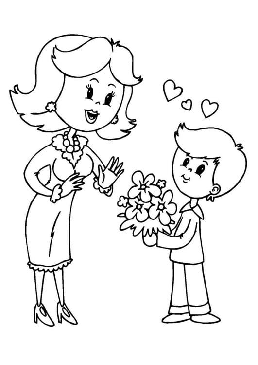 Dibujo Para Colorear Dãa De La Madre Img 25731 Images