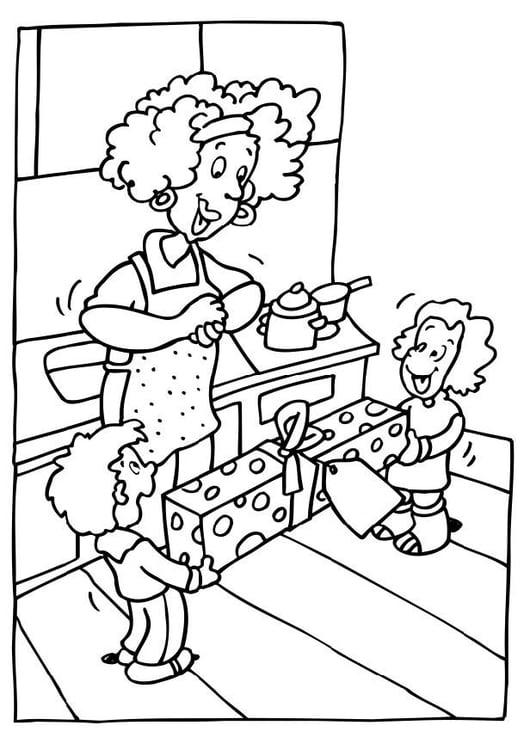 Dibujo Para Colorear Día De La Madre