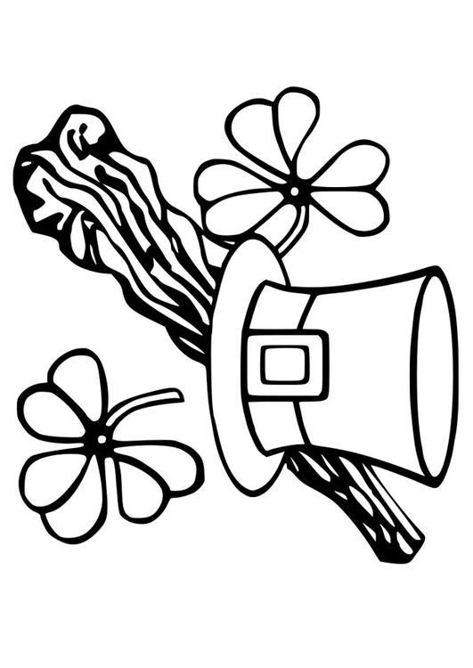 Dibujo para colorear Día de San Patricio - Img 21744