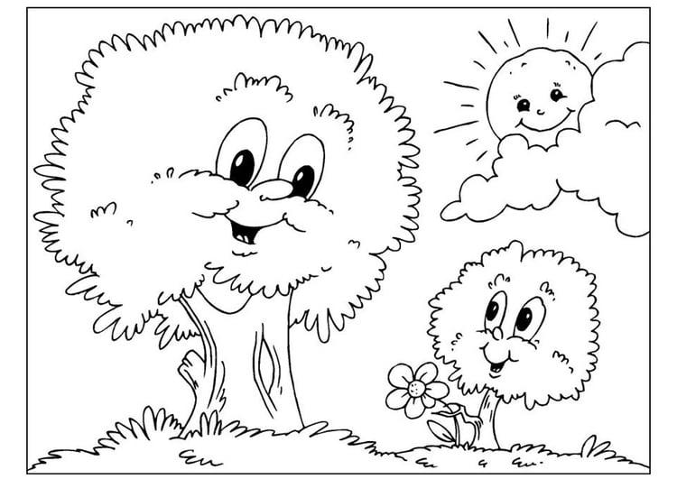 Dibujo Para Colorear Día Del Padre árboles Dibujos Para
