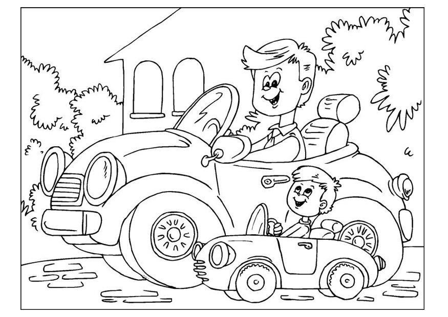 Dibujos Del Dia Del Padre Coloreados: Dibujo Para Colorear Día Del Padre