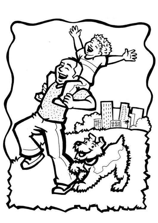 Dibujo Para Colorear Día Del Padre Dibujos Para Imprimir