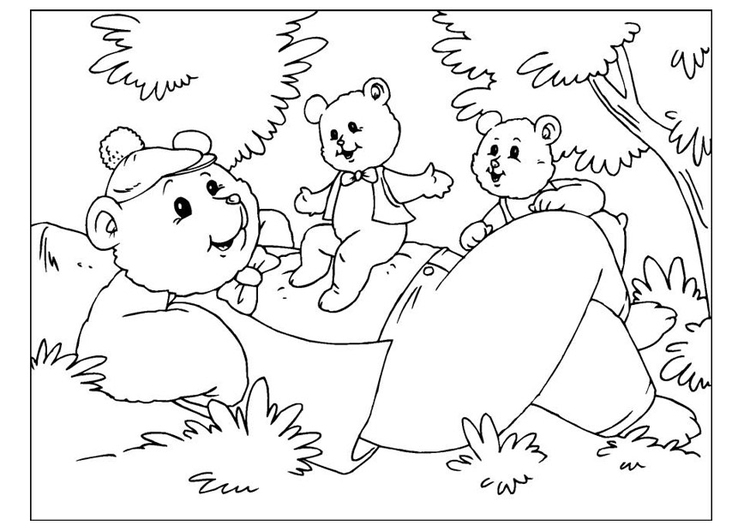 Dibujo Para Colorear D 237 A Del Padre Osos Img 25893
