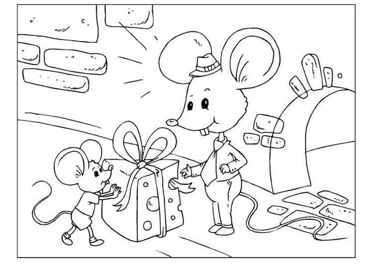 Dibujo Para Colorear Día Del Padre Ratones Dibujos Para