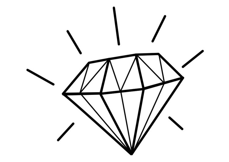 Famoso Diamante Para Colorear Molde - Ideas Para Colorear - cledusud.com