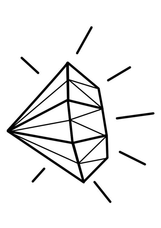 Dibujo para colorear diamante  Img 22466