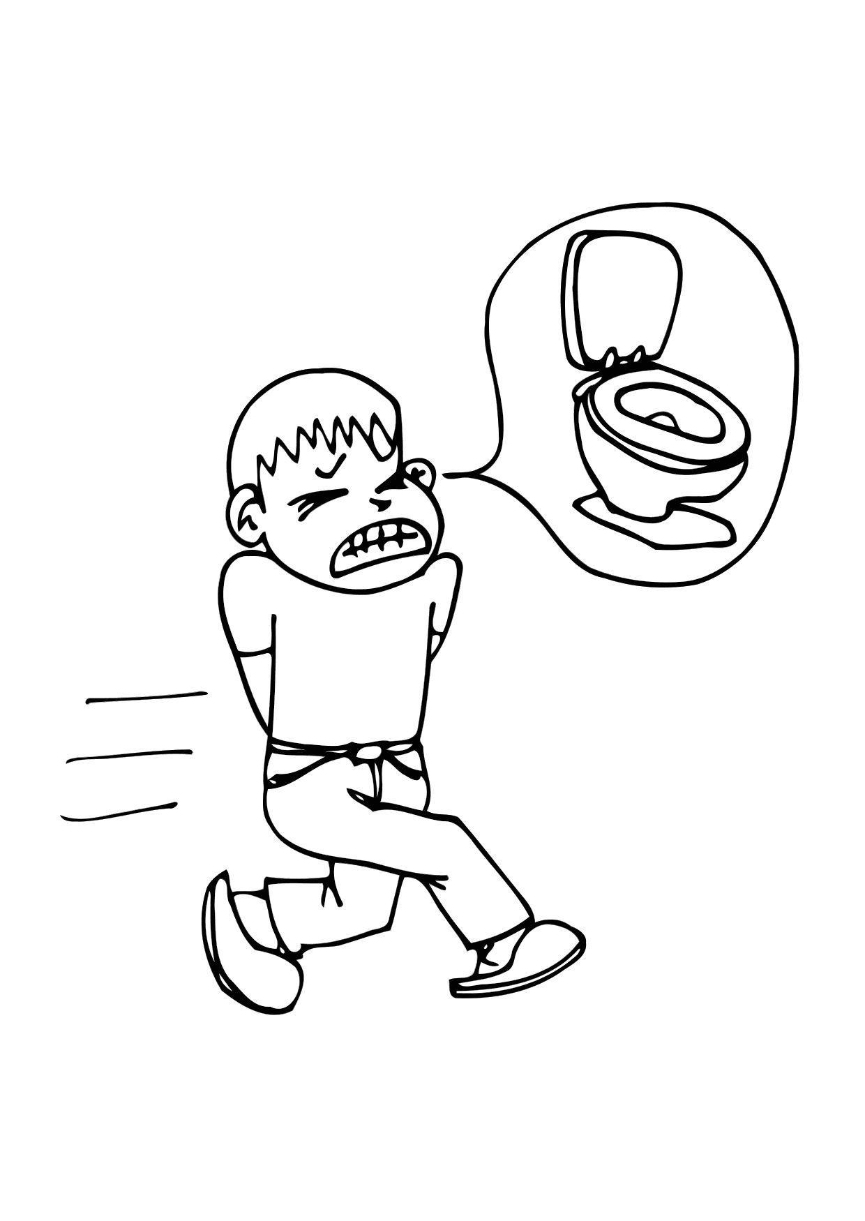 Dibujo para colorear Diarrea - Img 11789