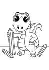 Dibujo para colorear dibujos de dinosaurios