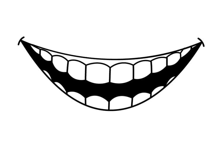 Dibujo para colorear dientes - Img 26941