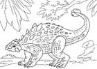 Dibujo para colorear dinosaurio - ankylosaurus