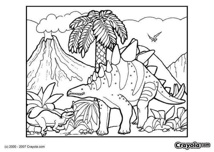 Dibujo para colorear Dinosaurio - Img 7834