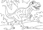 Dibujo para colorear dinosaurio - Tyrannosaurus Rex