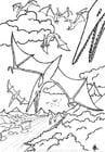 Dibujo para colorear Dinosaurios volando