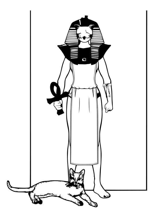 Dibujo para colorear dios egipcio - Img 26990