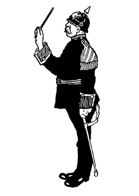 Kleurplaat Militair Dibujo Para Colorear Director De Orquesta Militar Img 12766