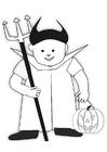 Dibujo para colorear disfraz de halloween