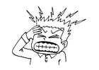 Dibujo para colorear Dolor de cabeza