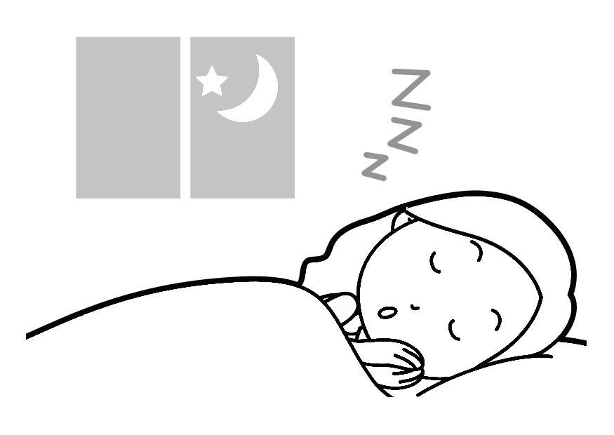 Imagenes De Persona Durmiendo: Dibujo Para Colorear Dormir
