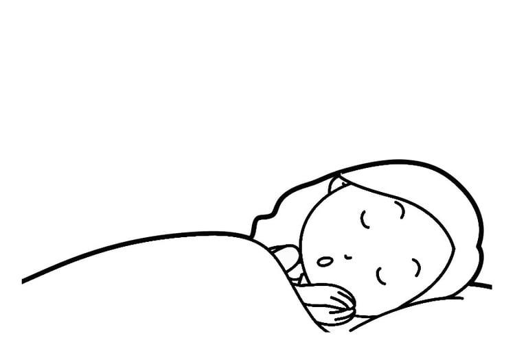 Dibujo Para Colorear Dormir Img 30296