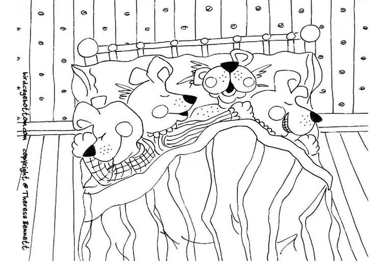 Dibujo Para Colorear Dormir Img 9053