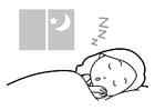 Dibujo para colorear dormir