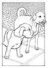 Dibujo para colorear dos perros