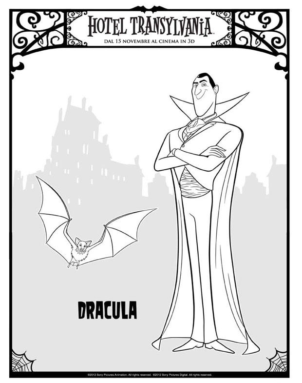 Dibujo Para Colorear Drácula