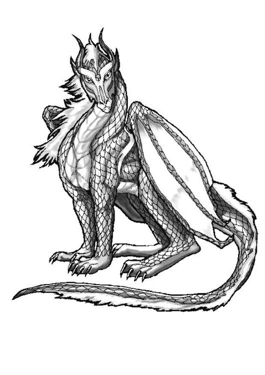 Dibujo para colorear Dragón atlántico - Img 11046