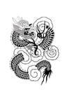 Dibujo para colorear Dragón chino