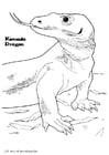 Dibujo para colorear Dragón de komodo