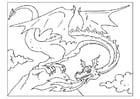 Dibujo para colorear dragón