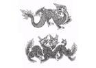 Dibujo para colorear Dragones
