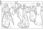 Dibujo para colorear Eduard Munch