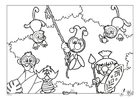 Dibujo para colorear Efteling - África