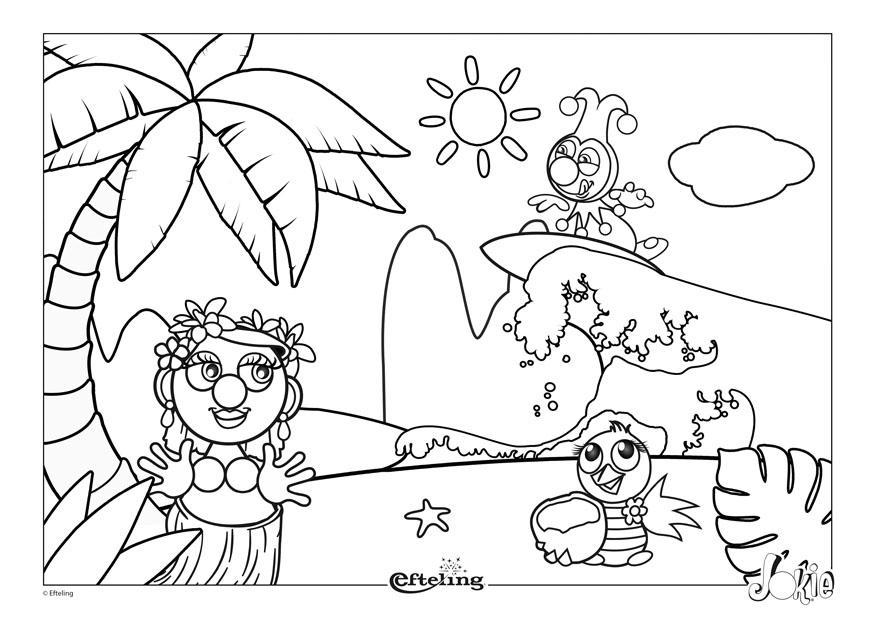 Dibujo Para Colorear Efteling Hawai Img 28631