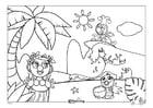 Dibujo para colorear Efteling - Hawai