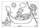Dibujo para colorear Efteling - Italia