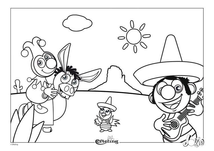 Dibujo para colorear Efteling - México - Img 28628