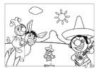 Dibujo para colorear Efteling - México