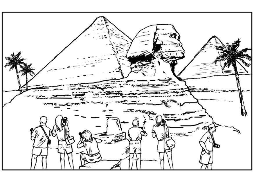 dibujo para colorear egipto dibujos para imprimir gratis