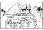 Dibujo para colorear Egipto